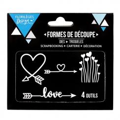 Outils de découpe DIRECTION LOVE par Florilèges Design. Scrapbooking et loisirs créatifs. Livraison rapide et cadeau dans cha...