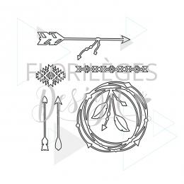 Outils de découpe TOUCHE ETHNIQUE par Florilèges Design. Scrapbooking et loisirs créatifs. Livraison rapide et cadeau dans ch...