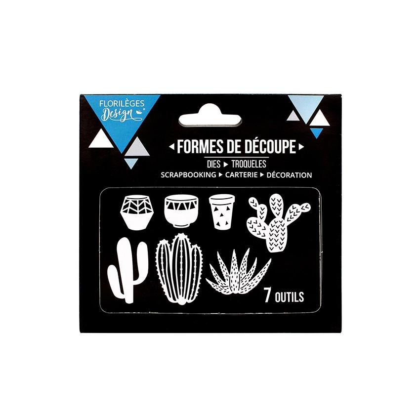 Outils de découpe QUELQUES CACTUS par Florilèges Design. Scrapbooking et loisirs créatifs. Livraison rapide et cadeau dans ch...