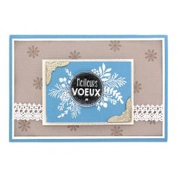 Tampon bois PASTILLE DE VOEUX - Capsule décembre