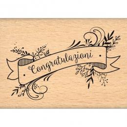 Tampon bois italien Congratulazioni par Florilèges Design. Scrapbooking et loisirs créatifs. Livraison rapide et cadeau dans ...
