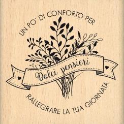 Tampon bois italien Parole di conforto par Florilèges Design. Scrapbooking et loisirs créatifs. Livraison rapide et cadeau da...