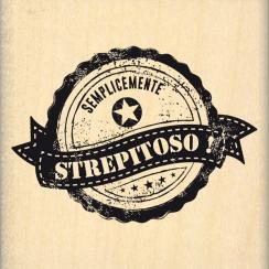 Tampon bois italien Semplicemente strepitoso par Florilèges Design. Scrapbooking et loisirs créatifs. Livraison rapide et cad...