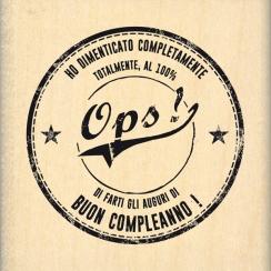 Commandez Tampon bois italien Ops! Florilèges Design. Livraison rapide et cadeau dans chaque commande.