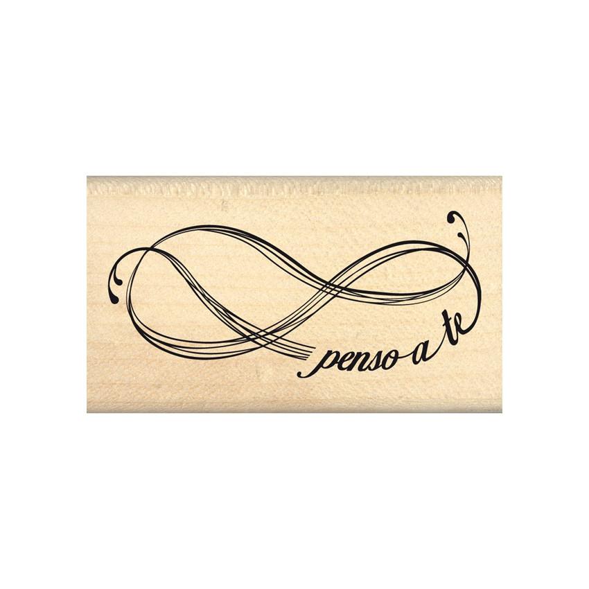 Tampon bois italien Pensiero infinito par Florilèges Design. Scrapbooking et loisirs créatifs. Livraison rapide et cadeau dan...