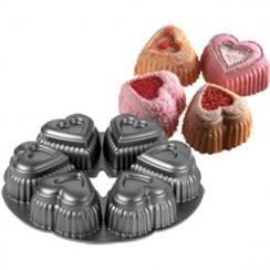 Moule à gâteaux coeurs dentelés