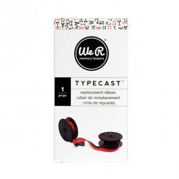 Ruban encreur pour machine à écrire Typecast rouge RED