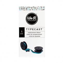 Ruban encreur pour machine à écrire Typecast turquoise TEAL par We R Memory Keepers. Scrapbooking et loisirs créatifs. Livrai...