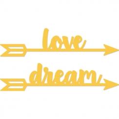 Outils de découpe LOVE DREAM ARROWS