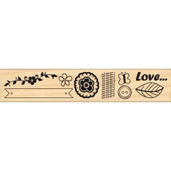 PROMO de -30% sur Tampon bois LOVE ETC In Spirit