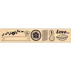 Tampon bois LOVE ETC