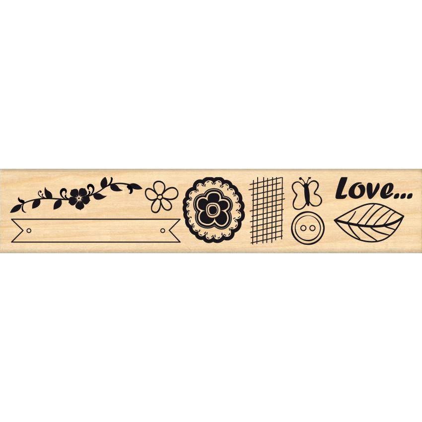 Tampon bois LOVE ETC par In Spirit. Scrapbooking et loisirs créatifs. Livraison rapide et cadeau dans chaque commande.