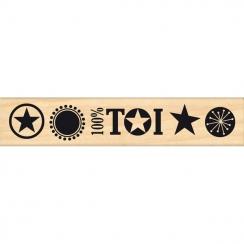 Tampon bois 100% TOI 2 par In Spirit. Scrapbooking et loisirs créatifs. Livraison rapide et cadeau dans chaque commande.