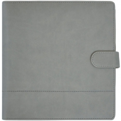 Agenda de bureau effet cuir gris couture GRAY STITCH
