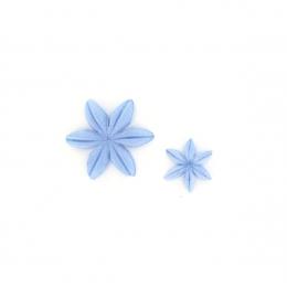Fleurs Bleu acier