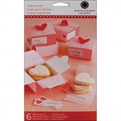 Boites coeurs Valentine par Martha Stewart. Scrapbooking et loisirs créatifs. Livraison rapide et cadeau dans chaque commande.