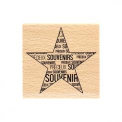 Tampon bois ÉTOILE SOUVENIRS par Florilèges Design. Scrapbooking et loisirs créatifs. Livraison rapide et cadeau dans chaque ...