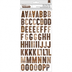 Alphabet chipboard effet bois SIMPLE LIFE