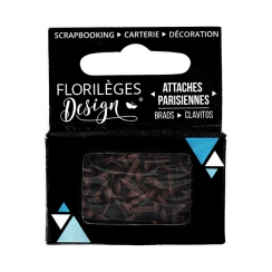 PROMO de -60% sur Mini attaches parisiennes Brou de noix Florilèges Design