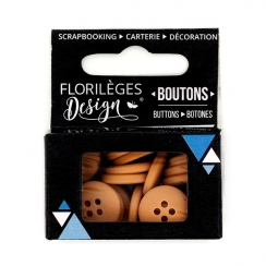 Boutons Clémentine par Florilèges Design. Scrapbooking et loisirs créatifs. Livraison rapide et cadeau dans chaque commande.