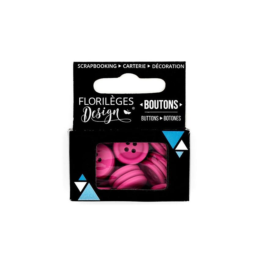 Boutons Azalée par Florilèges Design. Scrapbooking et loisirs créatifs. Livraison rapide et cadeau dans chaque commande.