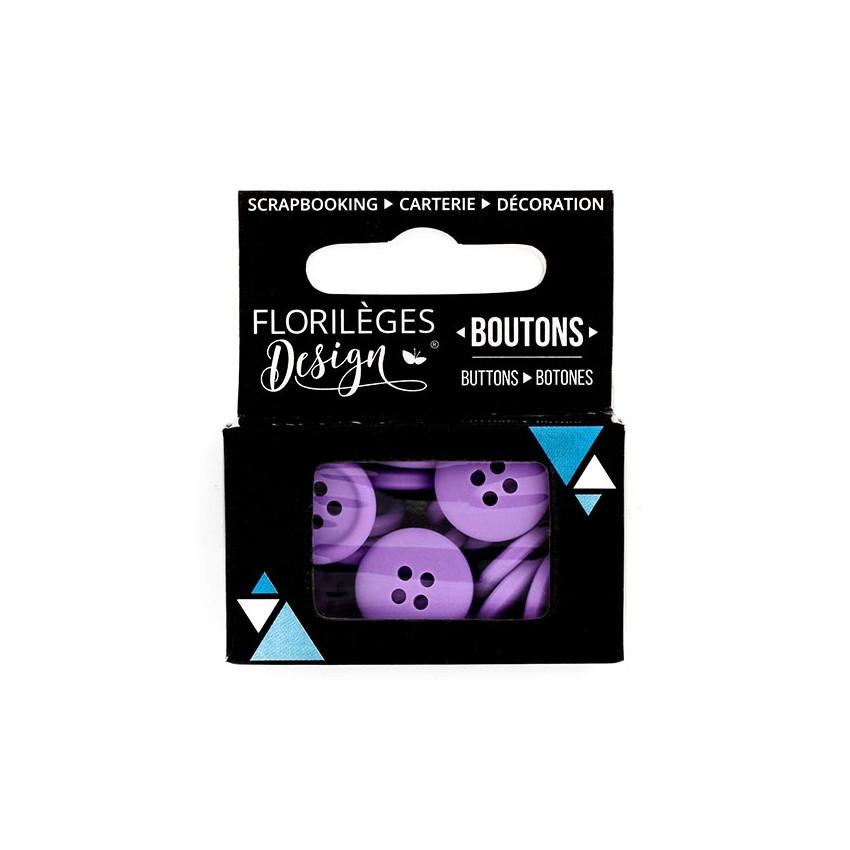 Boutons Améthyste par Florilèges Design. Scrapbooking et loisirs créatifs. Livraison rapide et cadeau dans chaque commande.