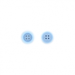 PROMO de -99.99% sur Boutons Bleu acier Florilèges Design