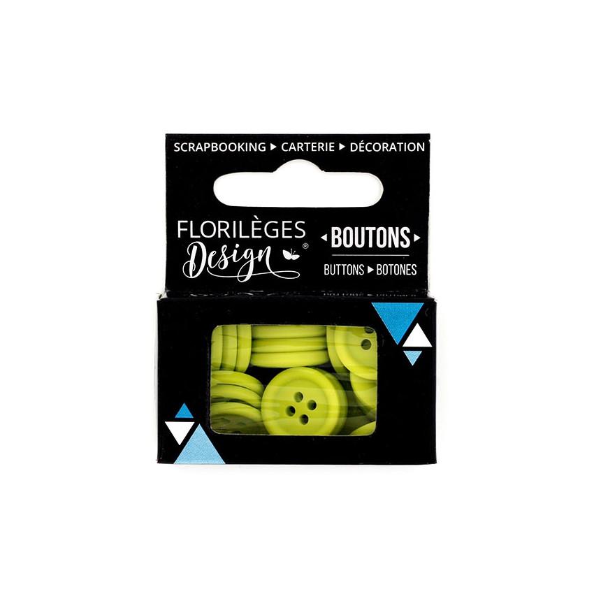 Boutons Céleri par Florilèges Design. Scrapbooking et loisirs créatifs. Livraison rapide et cadeau dans chaque commande.