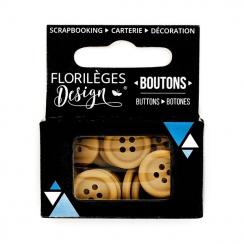 Boutons Cappuccino par Florilèges Design. Scrapbooking et loisirs créatifs. Livraison rapide et cadeau dans chaque commande.