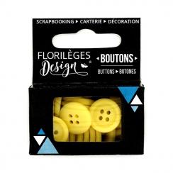 Boutons Brin de paille par Florilèges Design. Scrapbooking et loisirs créatifs. Livraison rapide et cadeau dans chaque commande.