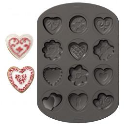 Moule à biscuits coeurs