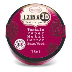Parfait pour créer : Pâte texture 3D IZINK fuchsia GERANIUM par Aladine. Livraison rapide et cadeau dans chaque commande.