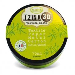 Pâte texture 3D IZINK vert BAMBOO par Aladine. Scrapbooking et loisirs créatifs. Livraison rapide et cadeau dans chaque comma...