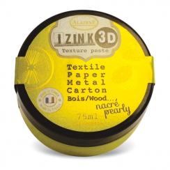Pâte texture 3D IZINK jaune nacré CITRONELLA par Aladine. Scrapbooking et loisirs créatifs. Livraison rapide et cadeau dans c...