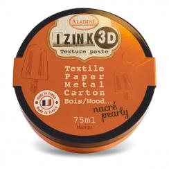 Pâte texture 3D IZINK orange nacré MANGO par Aladine. Scrapbooking et loisirs créatifs. Livraison rapide et cadeau dans chaqu...