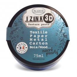 Pâte texture 3D IZINK bleu nacré VOLUBILIS