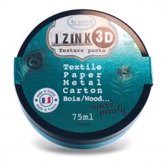 Pâte texture 3D IZINK turquoise nacré TOPAZ