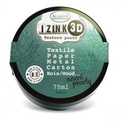 Pâte texture 3D IZINK vert d'eau nacré AGAVE