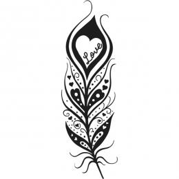 Tampon bois PLUME LOVE