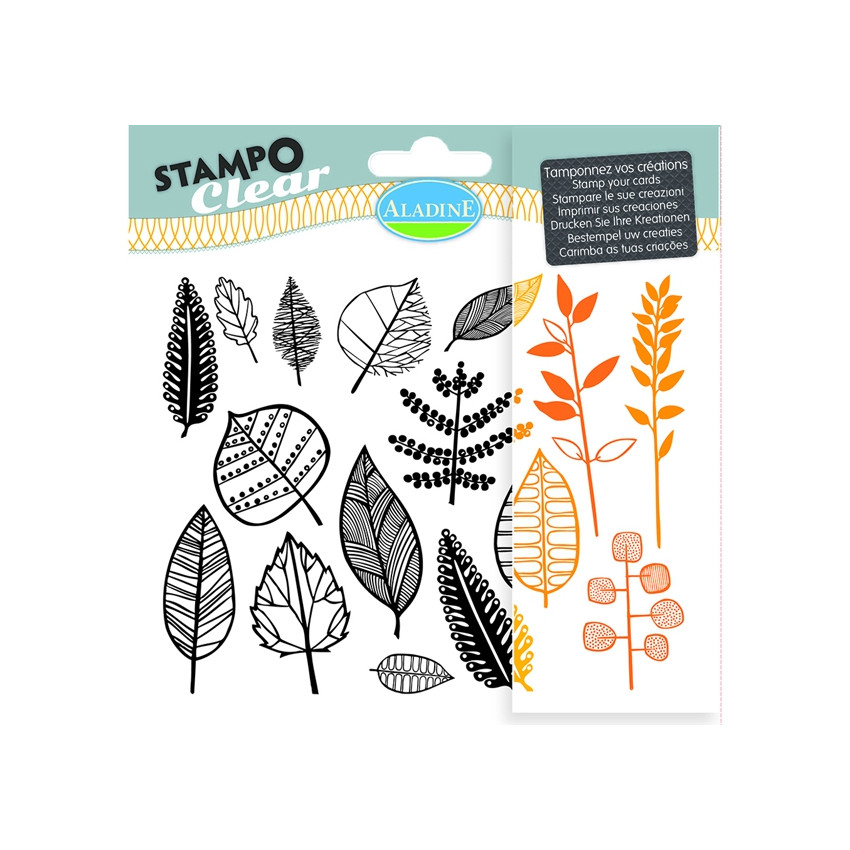 Tampons clear STAMPO CLEAR FEUILLES