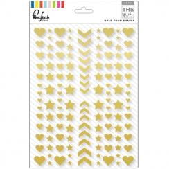 Embellissements en mousse dorée Gold Shapes THE MIX NO.1