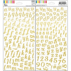Alphabet stickers or Foil THE MIX NO.1