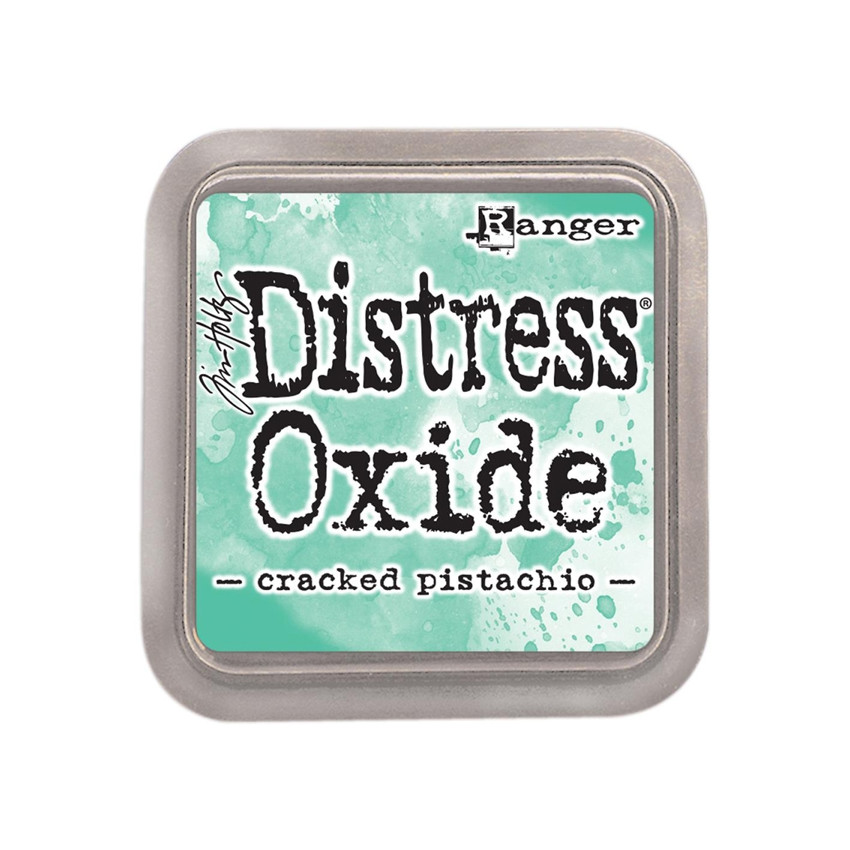 Encre Distress OXIDE CRACKED PISTACHIO par Ranger. Scrapbooking et loisirs créatifs. Livraison rapide et cadeau dans chaque c...