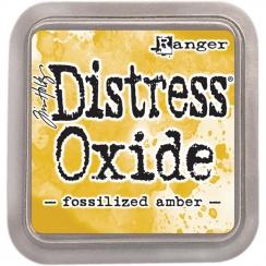 Encre Distress OXIDE FOSSILIZED AMBER par Ranger. Scrapbooking et loisirs créatifs. Livraison rapide et cadeau dans chaque co...
