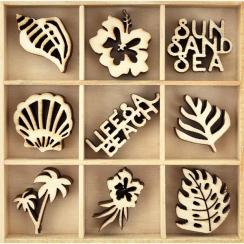 Parfait pour créer : Embellissements en bois LIFE'S A BEACH par Kaisercraft. Livraison rapide et cadeau dans chaque commande.