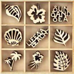 Embellissements en bois LIFE'S A BEACH