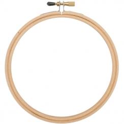 Cercle à broder bois 15 cm