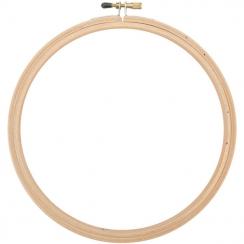 Cercle à broder bois 17,5 cm