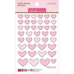 Cœurs autocollants en 3D Puffy stickers Mauve COTTON CANDY MIX