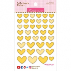 PROMO de -30% sur Cœurs autocollants en 3D Puffy stickers Jaune BELL PEPPER MIX Bella Boulevard